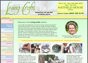 Living Crafts - brochure style static website